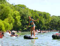 The Lower Guadalupe River, Texas, Canyon Lake, Tubing is fun in the sun