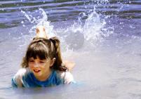 Splashing in the water in Canyon Lake
